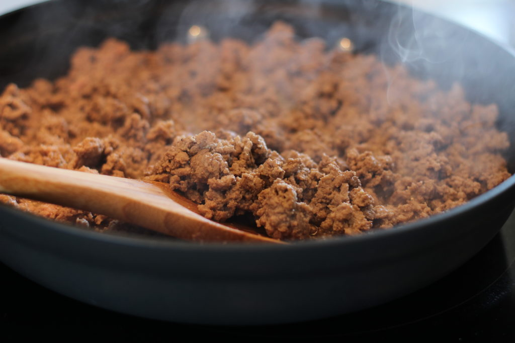 Brown the Ground Turkey Meat