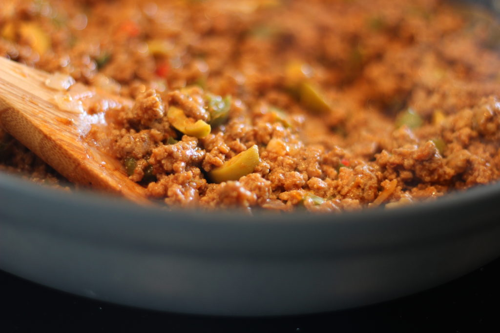 Picadillo fully cooked